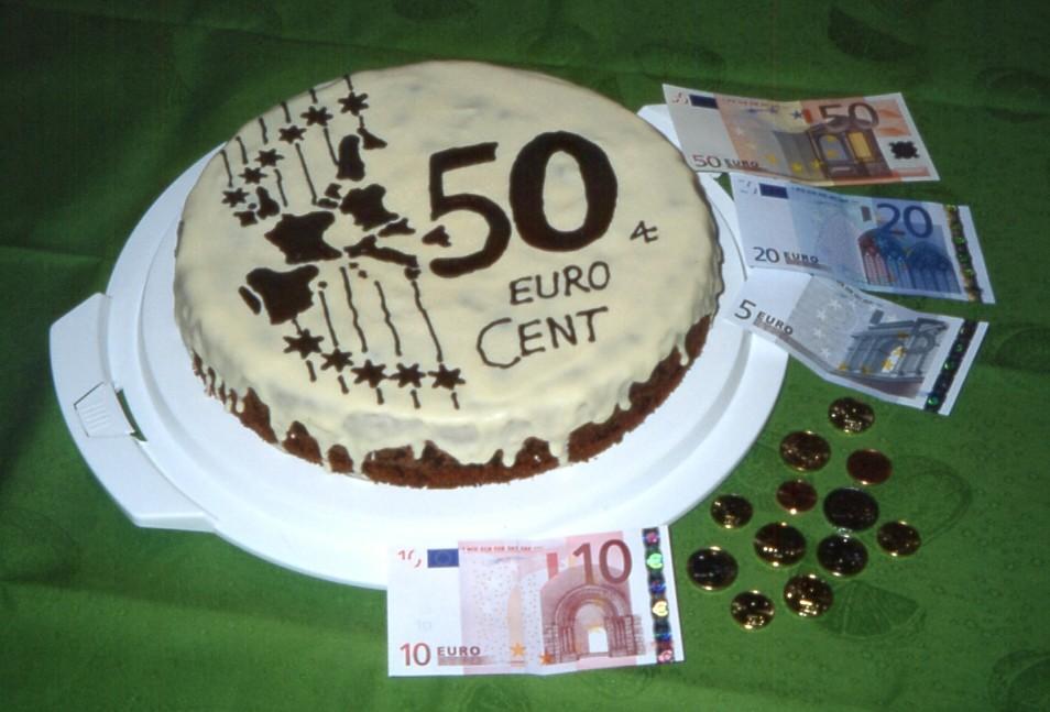 Euro Torte 50 Cent