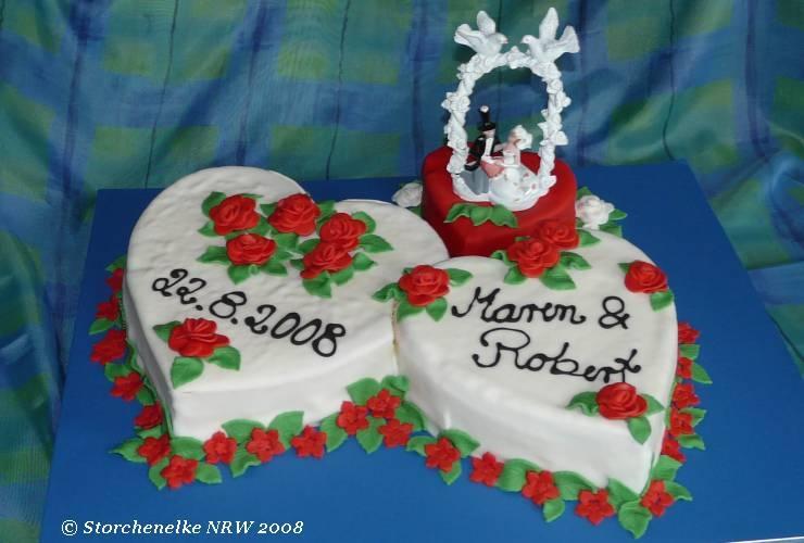Hochzeitstorte 3 Herzen